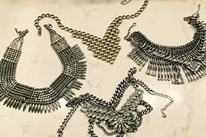 Liz's collection of Forever 21's necklaces