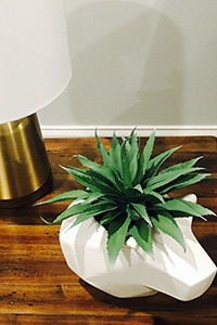 Geometric table decor with faux plant from the Home Decor selection of Target